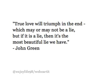 books, john green, and lie image