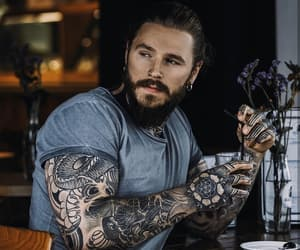 beard, model, and Tattoos image
