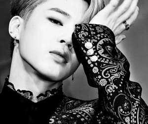 bts, jimin, and black and white image