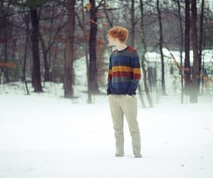 winter, boy, and ginger image