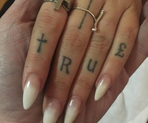 tattoo, nails, and tumblr image