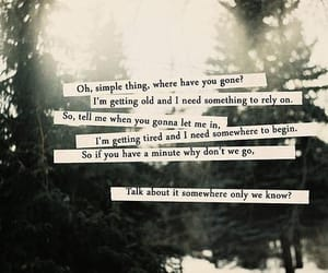 keane, somewhere only we know, and Lyrics image
