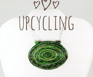 green necklace, upcycling, and green jewelry image