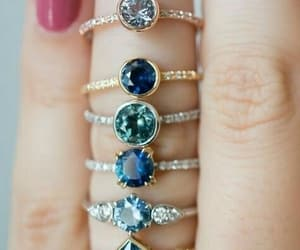rings, ring, and blue image