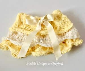 baby, yellow, and layette image