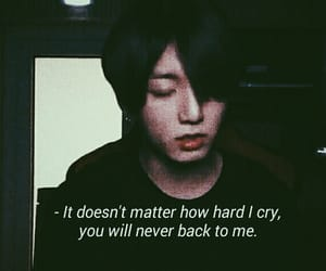 sad, bts, and jungkook image