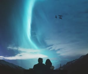 blue, night, and love image
