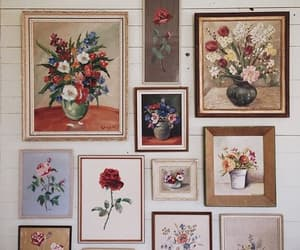 flowers, painting, and wallflower image