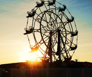 blue, ferris wheel, and photography image
