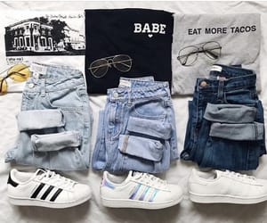 accesories, shirts, and sneakers image