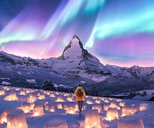 light, snow, and beautiful image