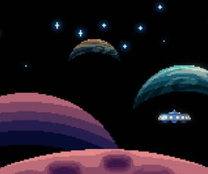 game, pixel, and universe image