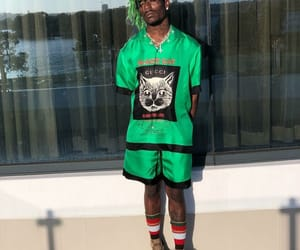 green, gucci, and rapper image