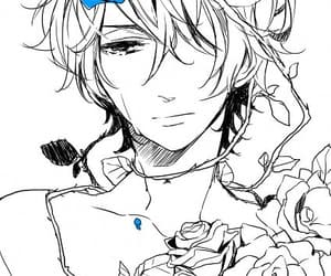 blue rose, crying, and cool image