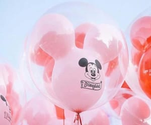 balloons, pink, and disney image