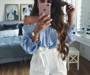 clothes, hair, and fashion image