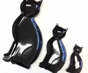 black cat, home decor, and kitties image