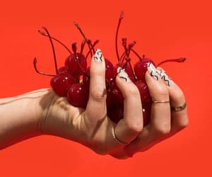 aesthetic, food, and cherries image