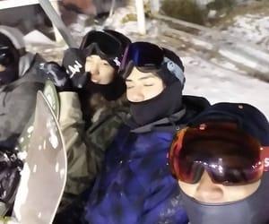 couple, Skiing, and sehun image