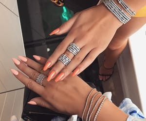 diamonds, nail inspo, and goals image