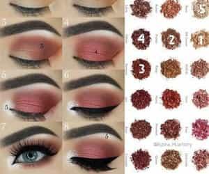 makeup, makeuptutorials, and tutorials image