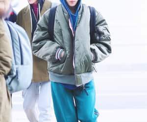 airport, black hair, and renjun image