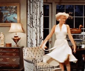 gif, dress, and Marilyn Monroe image