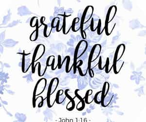 grateful, blessed, and christian image
