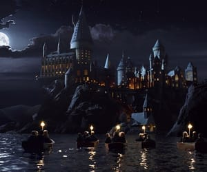 beautiful, hogwarts, and lights image