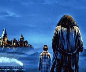 harry potter, hogwarts, and hagrid image