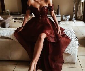 dress and burgundy image