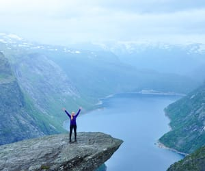 beautiful, hike, and norway image