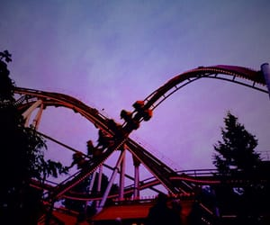 Roller Coaster, sky, and funpark image