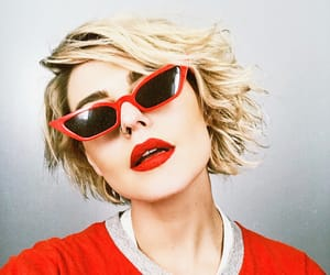 cateye, fashion, and red image