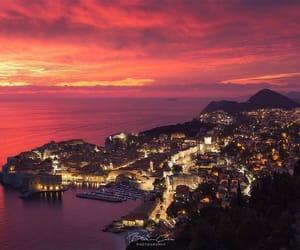 Croatia, dubrovnik, and sunset image