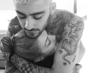 couple, kissing, and zayn malik image