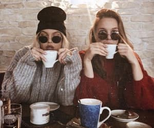 best friends, bff, and coffee image