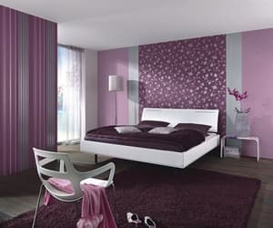 bedroom, ideas, and purple image