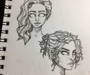 art, background, and bad girl image