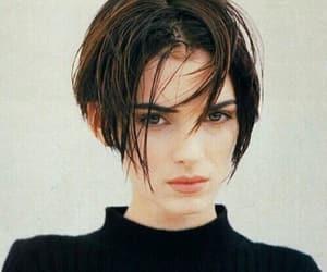 winona ryder, actress, and short hair image