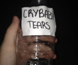 black, tears, and cry baby image