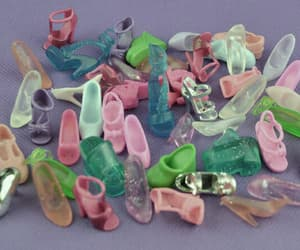barbies, girls, and shoes image