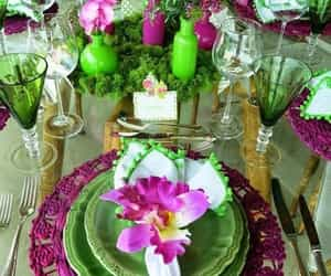 decoration, spring, and dinnerware image