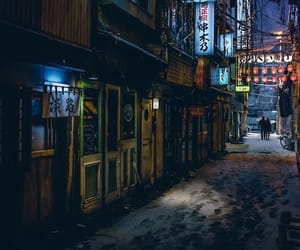 city, japan, and japanese image