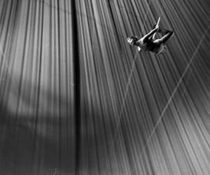 acrobat, b&w, and circus image
