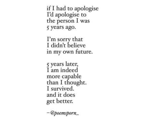 apologize, believe, and sorry image