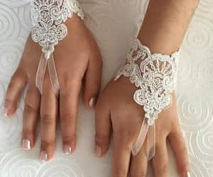 etsy, little bride, and wedding gloves image