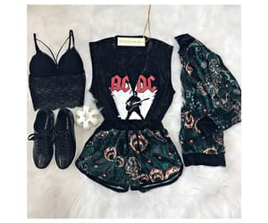 ACDC, black, and bralette image