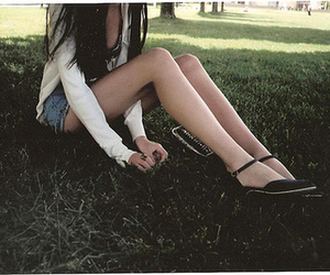 girl, legs, and thinspo image