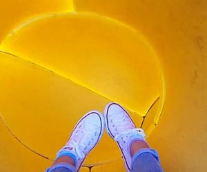 all star, converse, and yellow aesthetic image